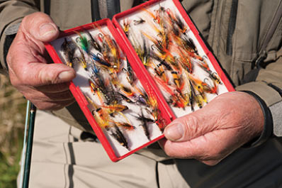 Tackle box with flys